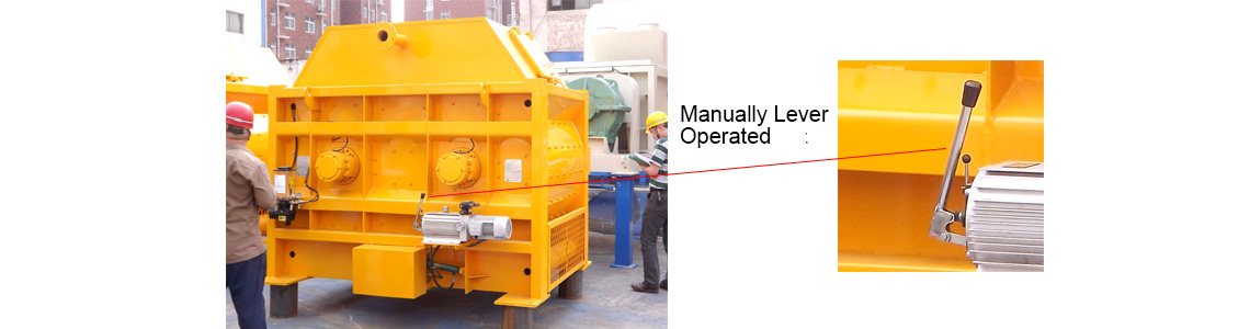 JS2000 concrete mixer Manual lever
