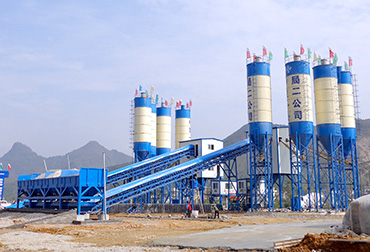 Double 90 concrete mixing plant