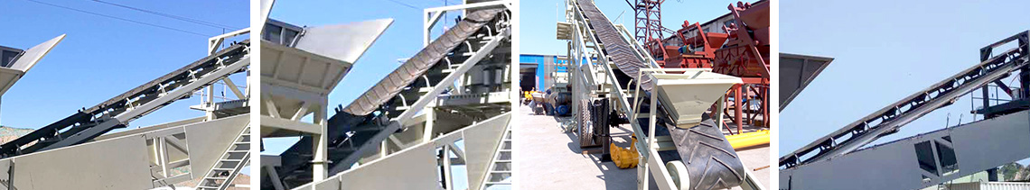 YHZS35 Mobile concrete mixing plant Conveyor system