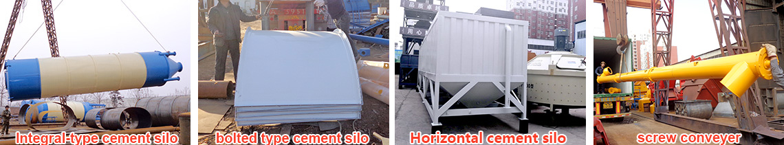 YHZS35 Mobile concrete mixing plant Bolted cement silo