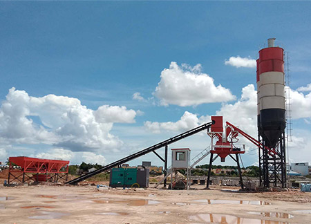 Jianxin 50 concrete mixing plant put into operation in Indonesia.