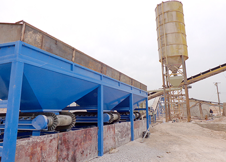 Hunan 300 tons stabilized soil mixing plant site case